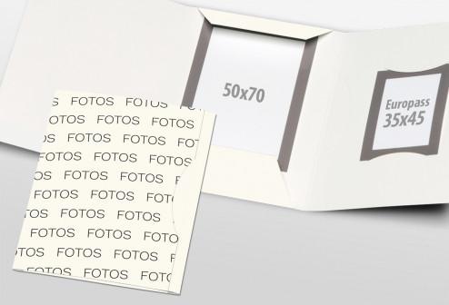 Passbildmappe Classic - Fotos Streudruck Weiß