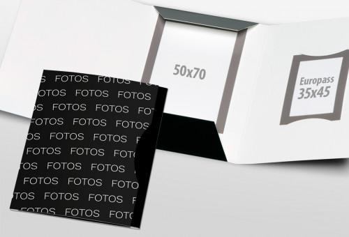 Passbildmappe Classic - Fotos Streudruck Schwarz