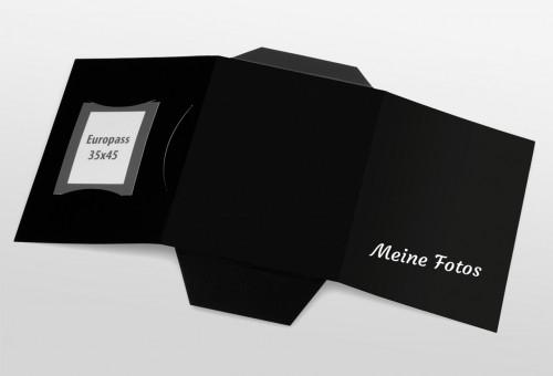 Passbildmappe Classic - Meine Fotos Schwarz