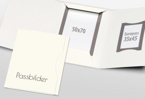 Passbildmappe Classic - Passbilder Weiß