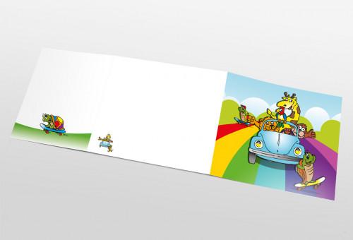 Schul- und Kindergartenmappe dreiteilig - geklebt - Beetletour